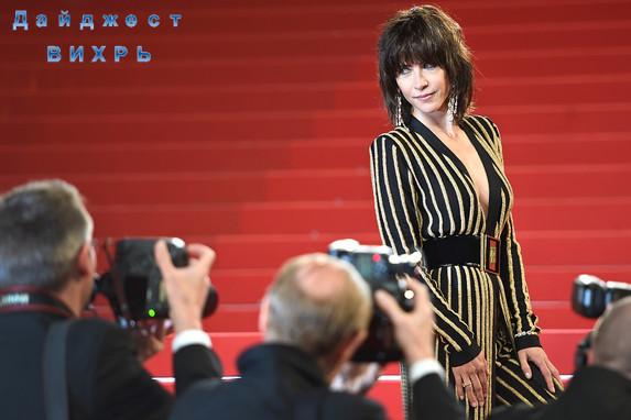 Софи Марсо на красной ковровой дорожке 68-ого Каннского фестиваля